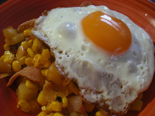 Foodycat: Smokey Bacon & Corn Hash