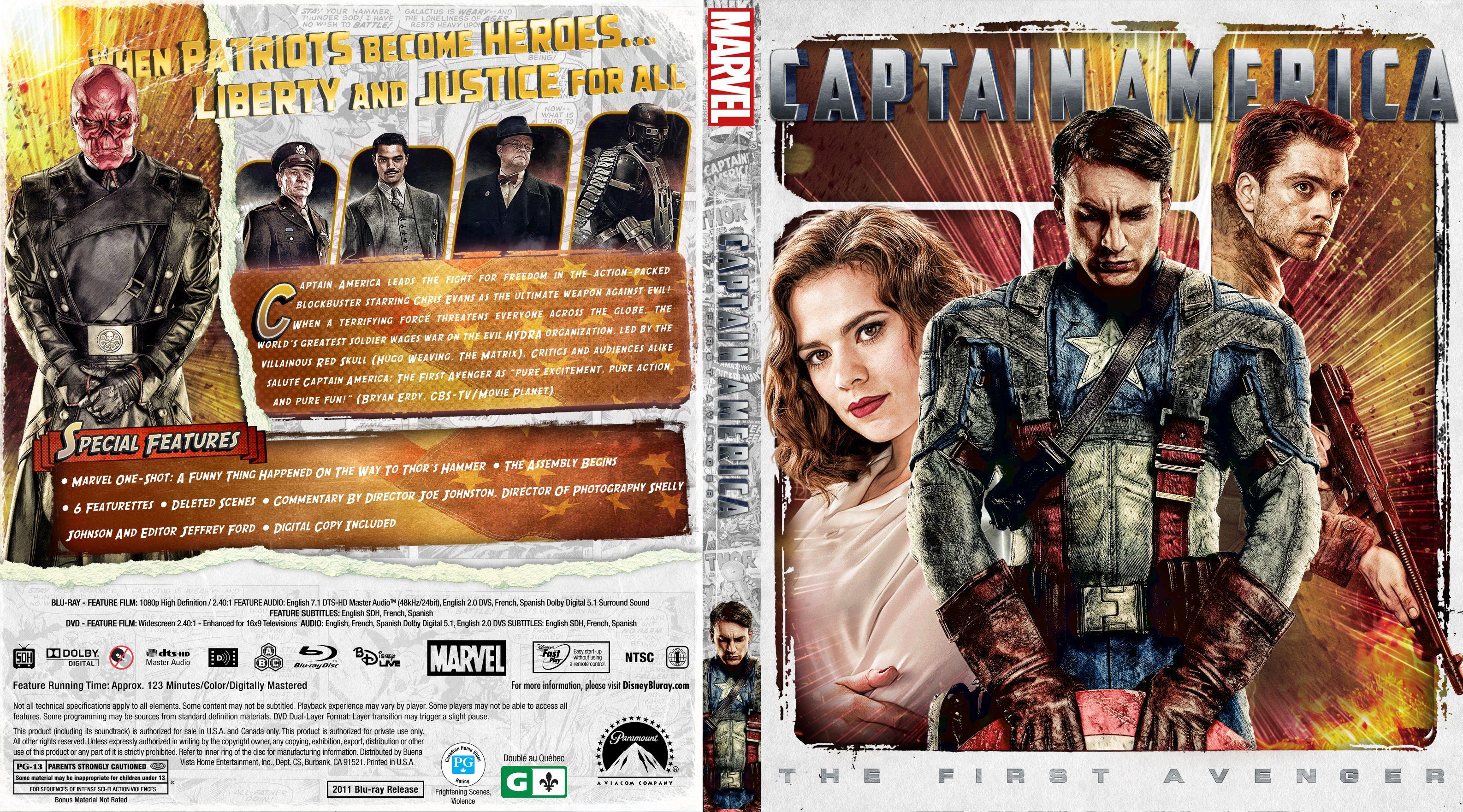 Capa Bluray Captain Amercia The First Avenger