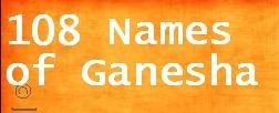 Ganesha 108 Names