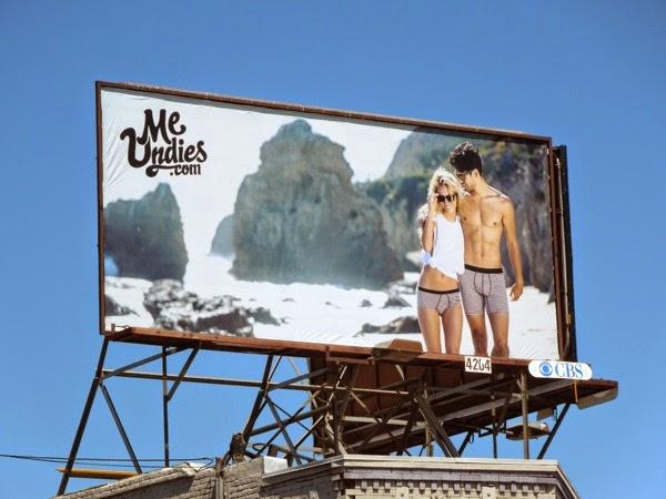 Me Undies beach billboard