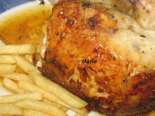 Pollo al horno a las finas hierbas