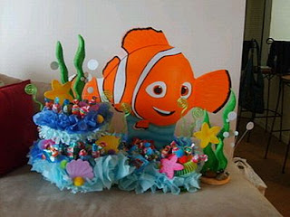 Children parties, Nemo decorations, table centers