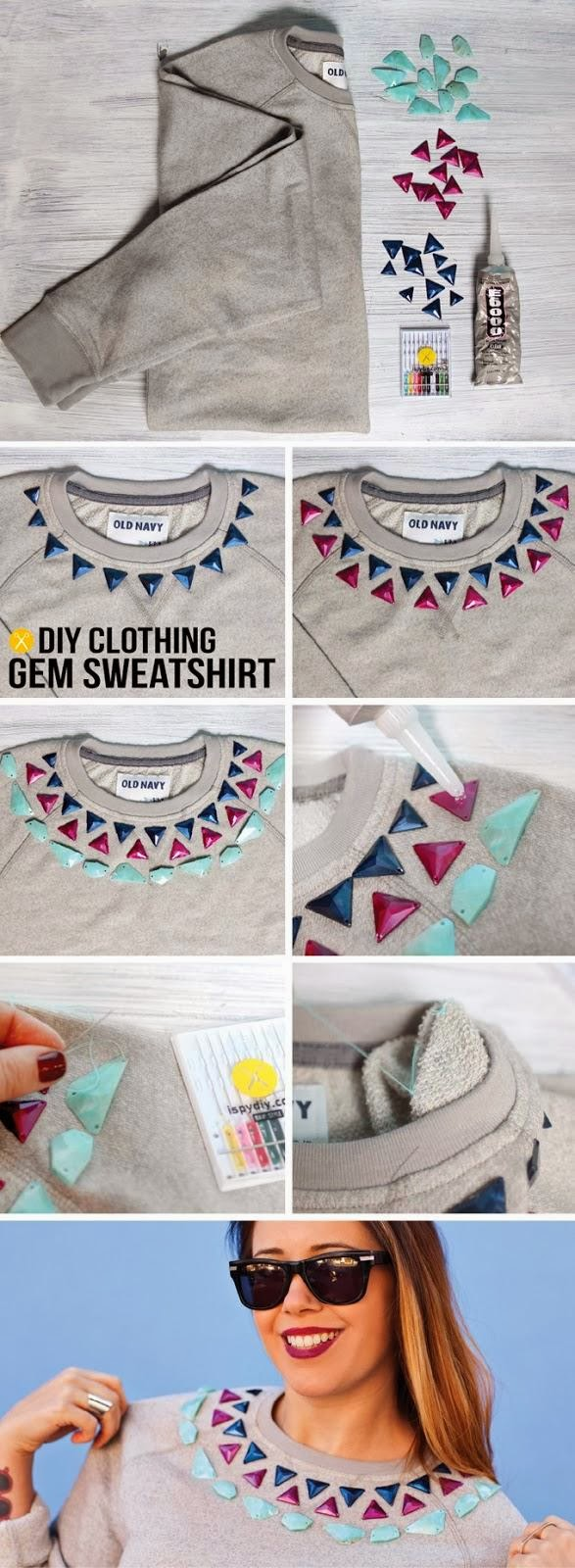 How to turn your sweater into a sweatshirt