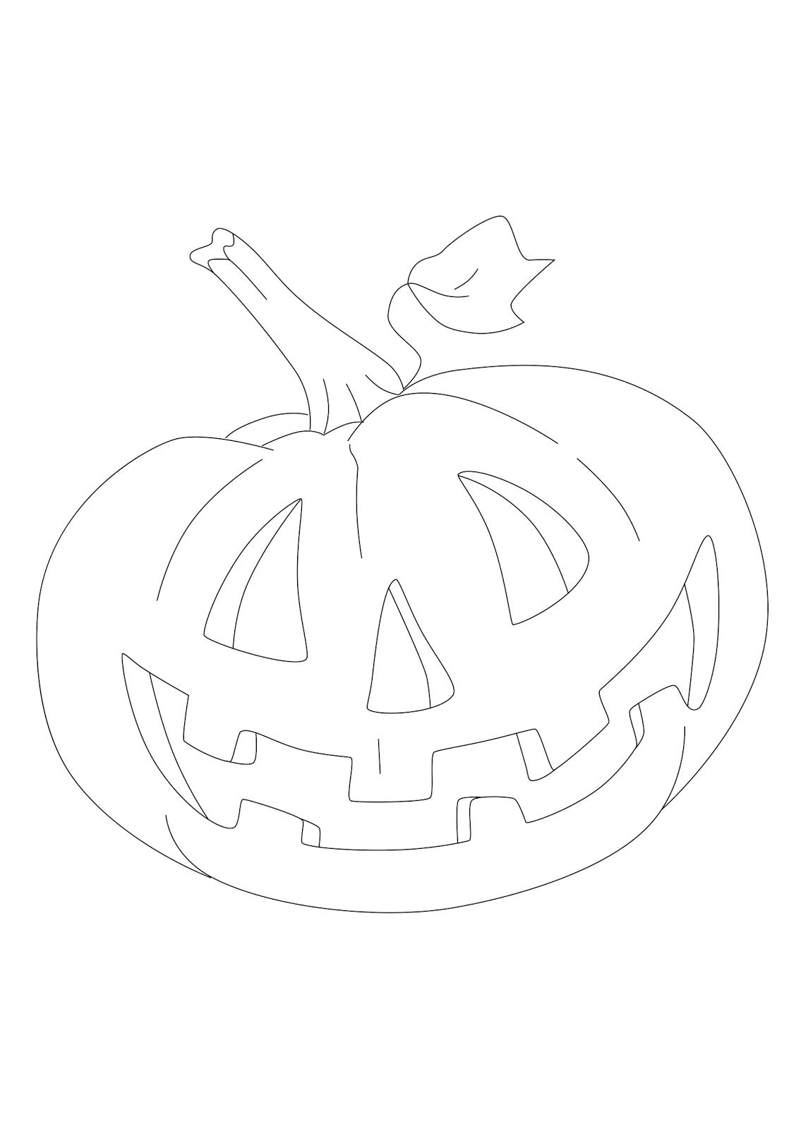 Desenhos para colorir halloween - imagens aboboras halloween colorir