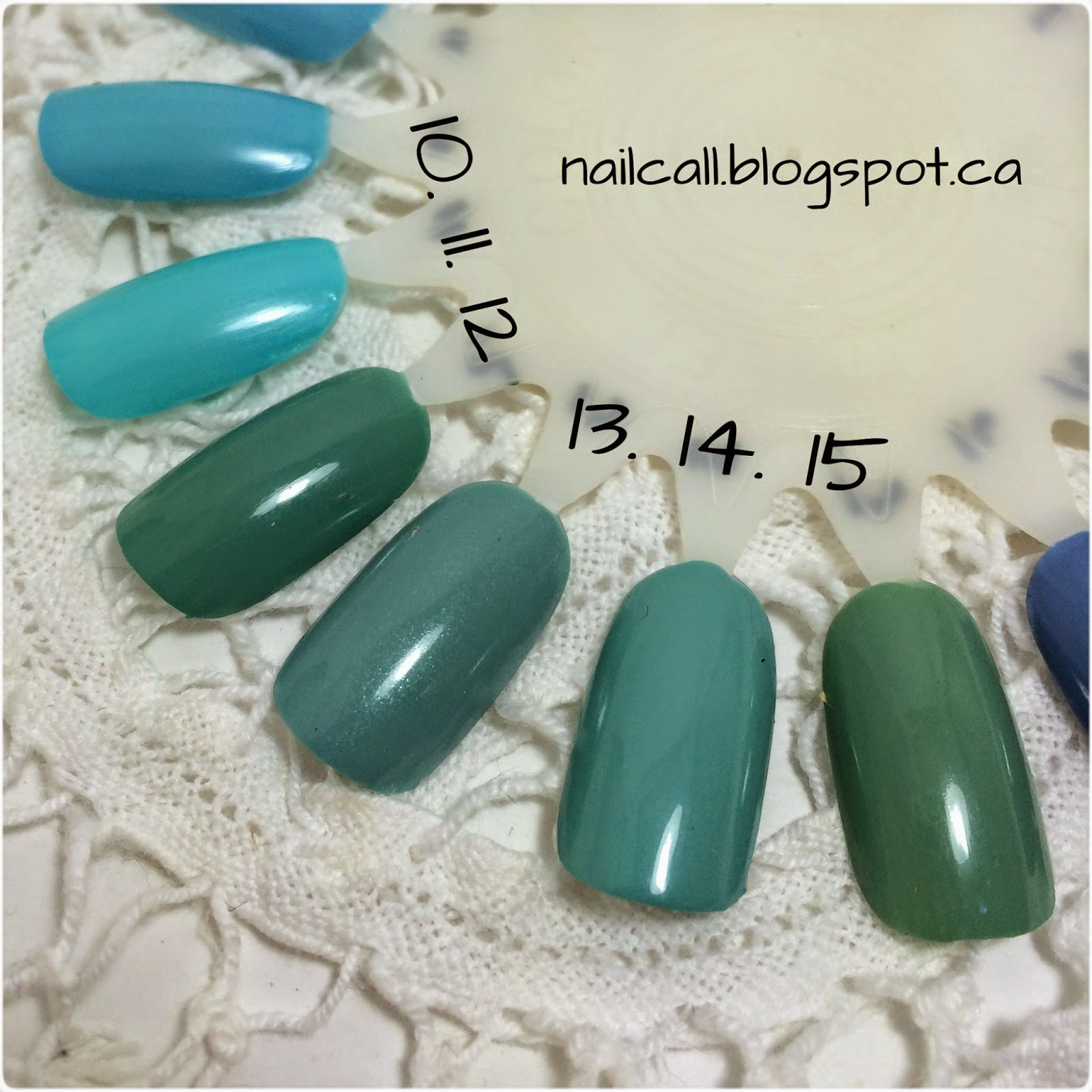 Nail Polish Swatches 10-15