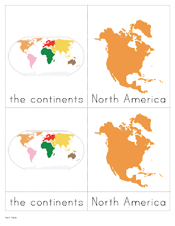 The helpful garden continents nomenclature cards