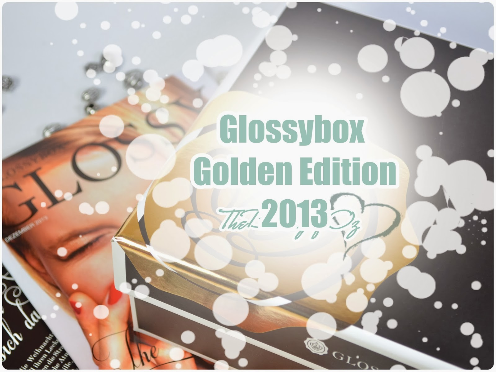 Glossybox Golden Box Weihnachten 2013