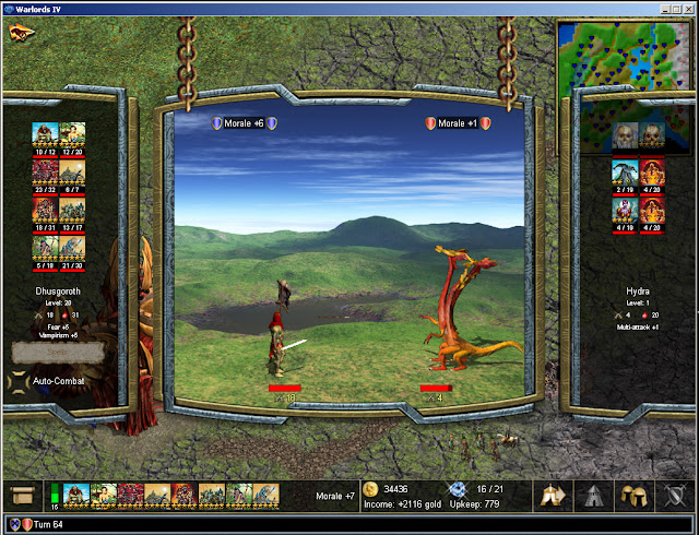 Warlords 4 - Combat Screenshot