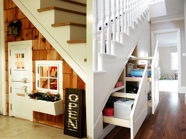 Aproveitando o espaço debaixo da escada