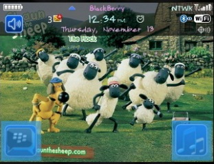 Theme Shaun The Sheep BlackBerry