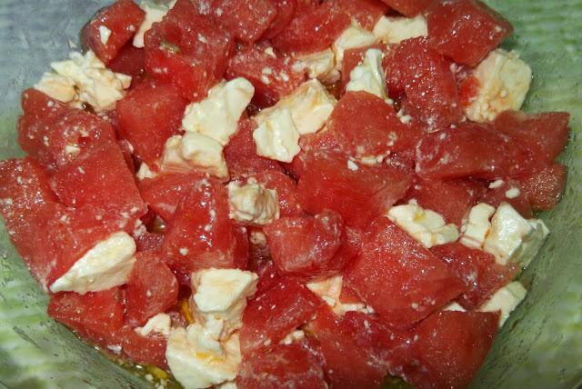 insalata di anguria e feta