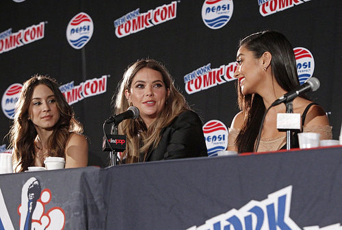Troian Bellisario, Ashley Benson and Shay Mitchell at New York Comic Con