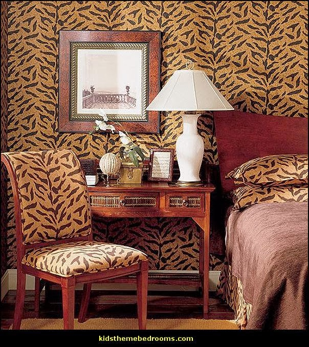 Animal print theme bedroom decorating ideas wild safari themed rooms