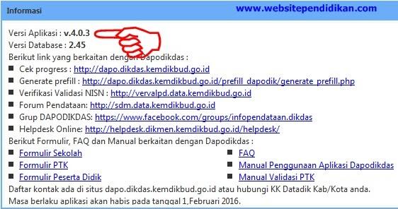 Cara Mudah Upgrade Aplikasi Dapodikdas Versi 4 0 2 Ke 4 0 3 Download Dan Cara Instal Dapodikdas