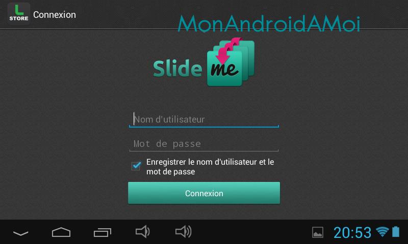 Pas de Google Play installé.