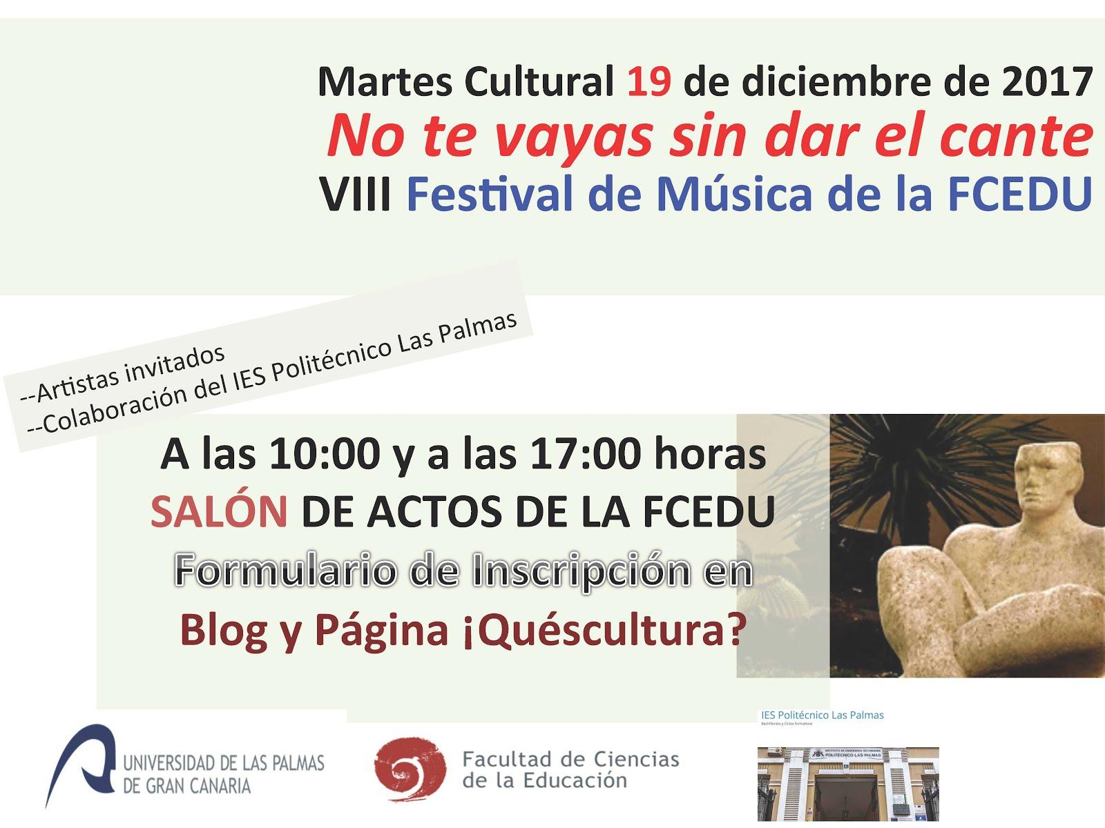 INSCRIPCIÓN VIII FESTIVAL DE MÚSICA