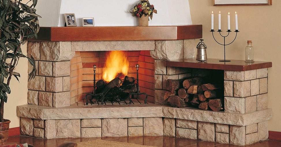 Chimeneas rusticas ladrillo construccion planos de casas Planos de chimeneas de lena