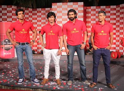 Sonu,Vidhyut, Rana & Milind unveil Old Spice's Smell Mantastic