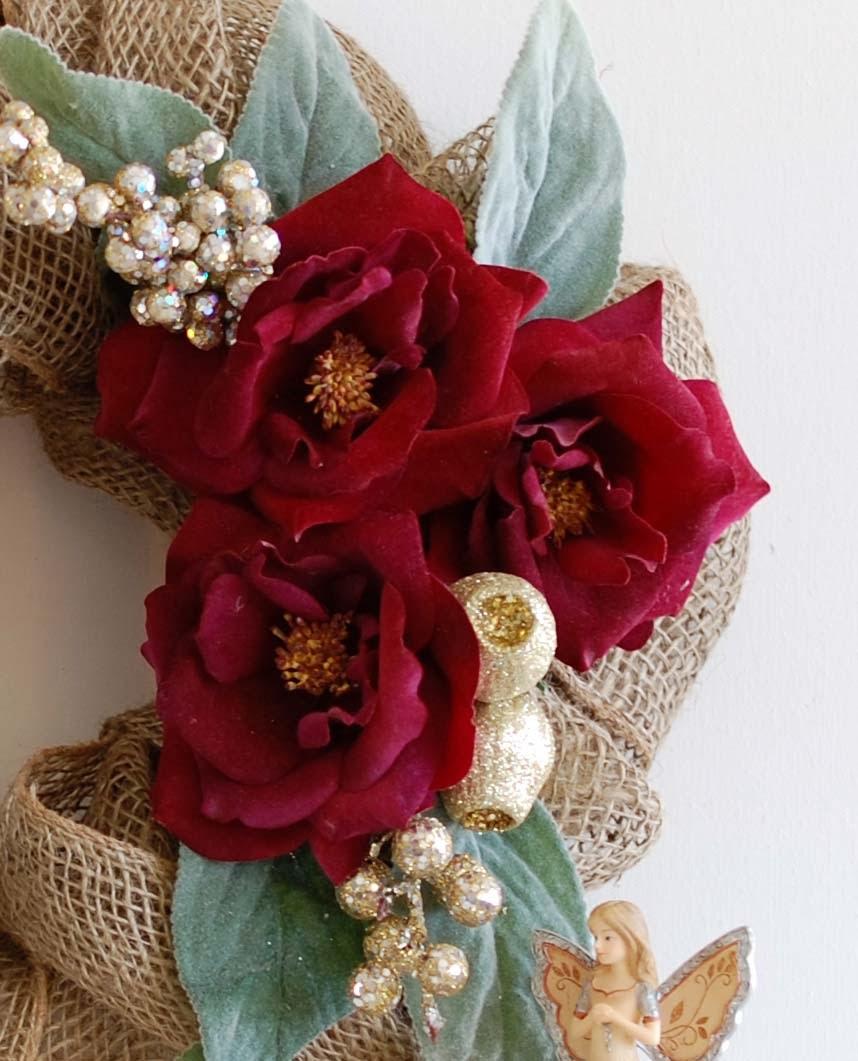 Burlap christmas wreath tutorial handmade paper flowers for Handmade paper flowers tutorial