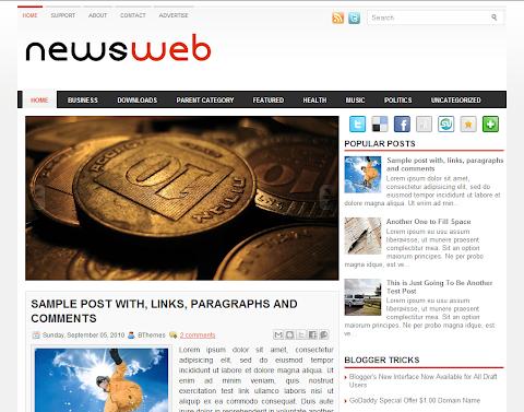 NewsWeb Blogger Theme