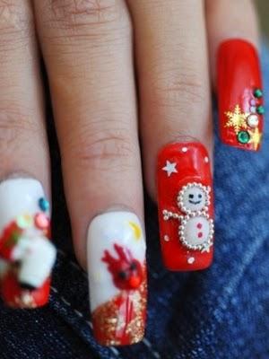 uñas decoradas - lindas - hermosas - pintados colores fuertes - imagenes