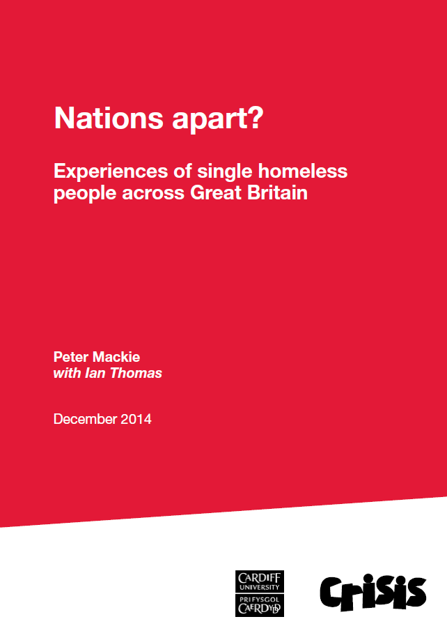 Nations Apart - experiences of single homeless people across Great Britain