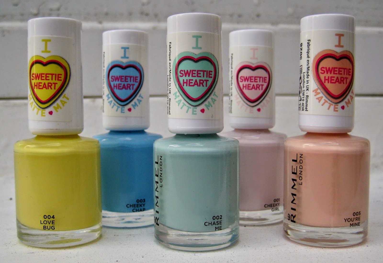 Rimmel London Sweetie Heart Matte Pastels