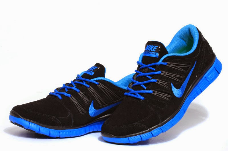 Nike Free Run   3 Women Running Shoes Light Blue Silver Size Us55