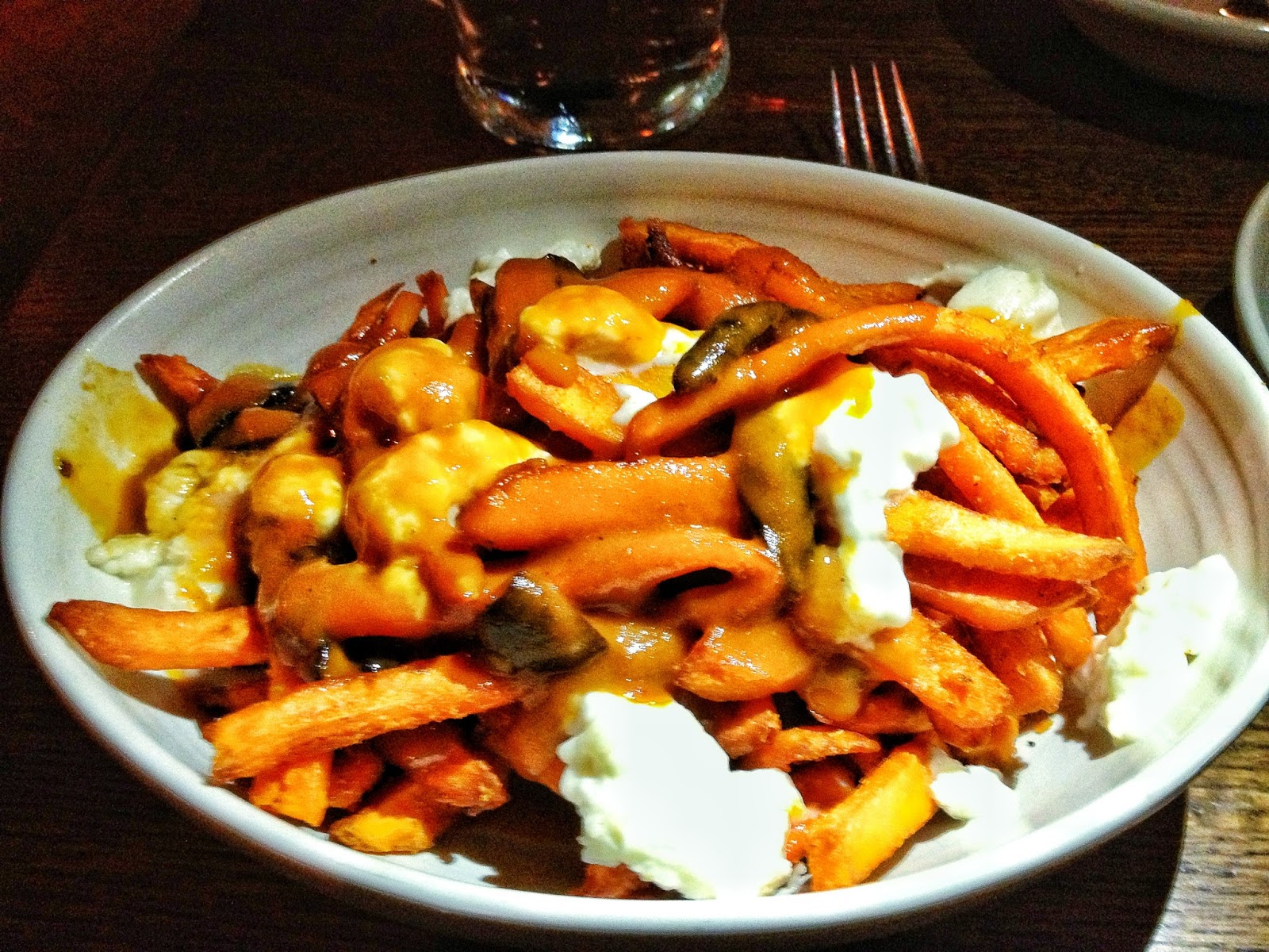 Sweet Potato Poutine Fries