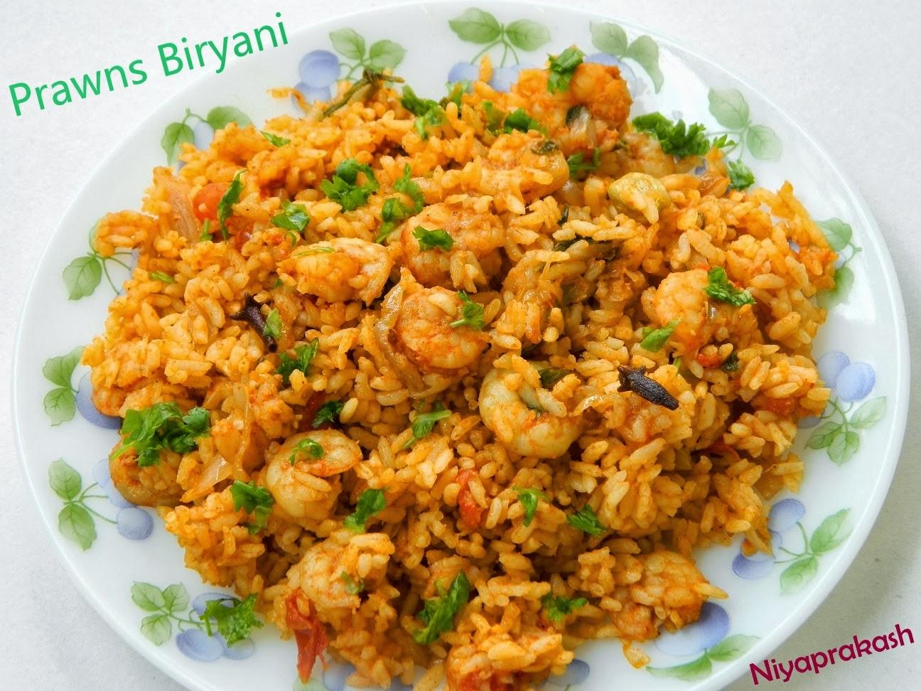 Niya's World: Prawns Biryani / Chemmeen Biryani