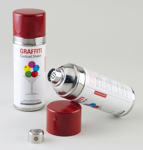 spray paint x graffiti x cocktail shaker a winning combination. Black Bedroom Furniture Sets. Home Design Ideas