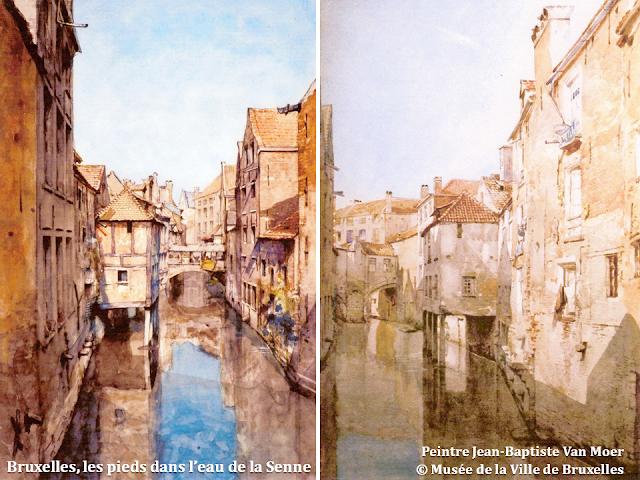 Bruxelles, les pieds dans l'eau de la Senne - Bruxelles disparu - Peintre Jean-Baptiste Van Moer - Musée de la Ville de Bruxelles - Bruxelles-Bruxellons