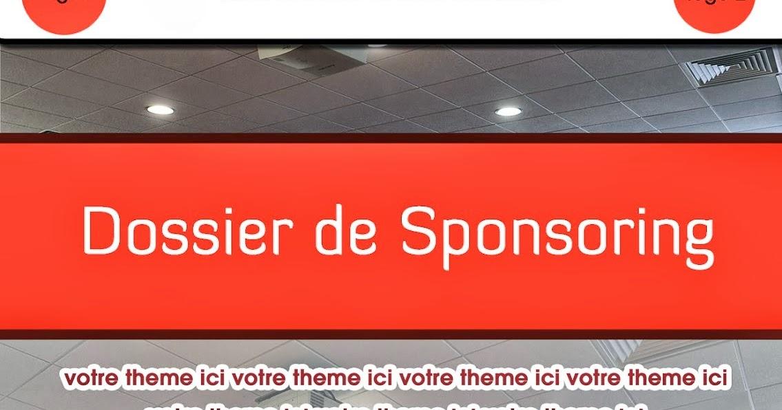 pdf   exemple de page de garde de dossier de sponsoring
