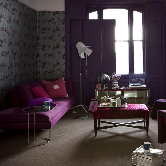 Purple ideas for home decoration interior design and deco - Interior house decoration with purple ...