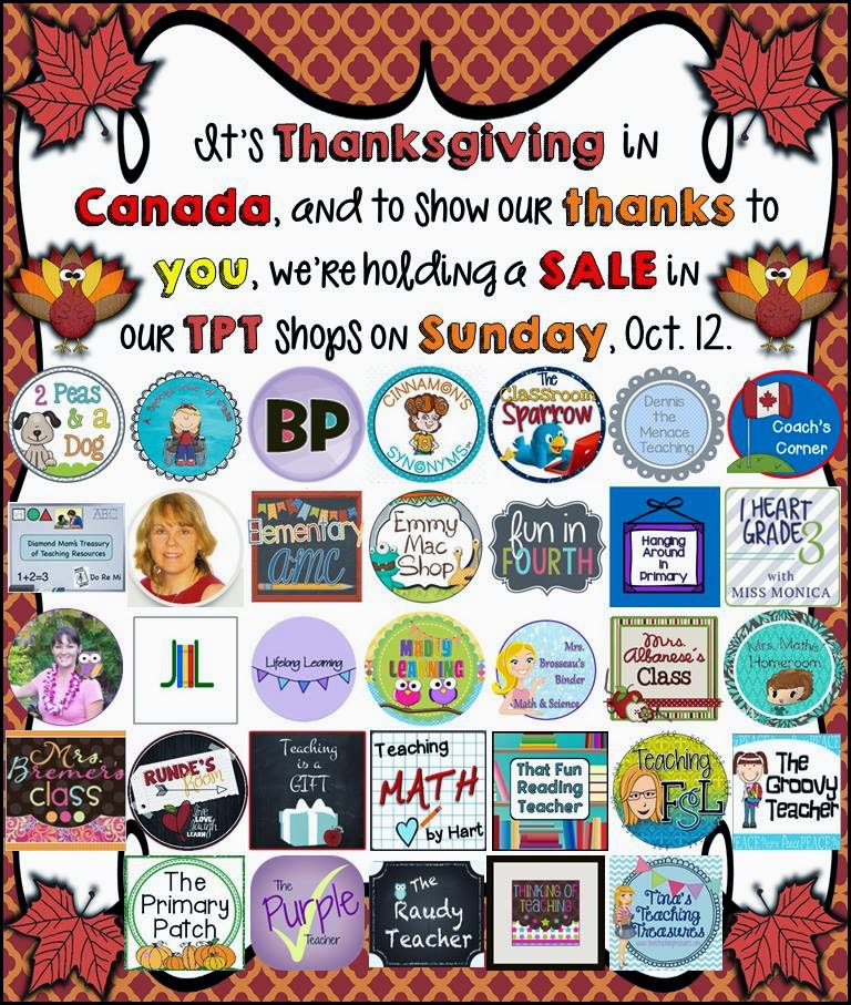 Giving thanks, with a sale