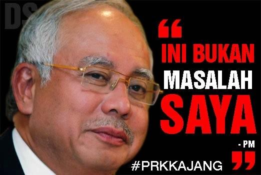 #prkkajang : Ini bukan masalah saya - Najib Razak