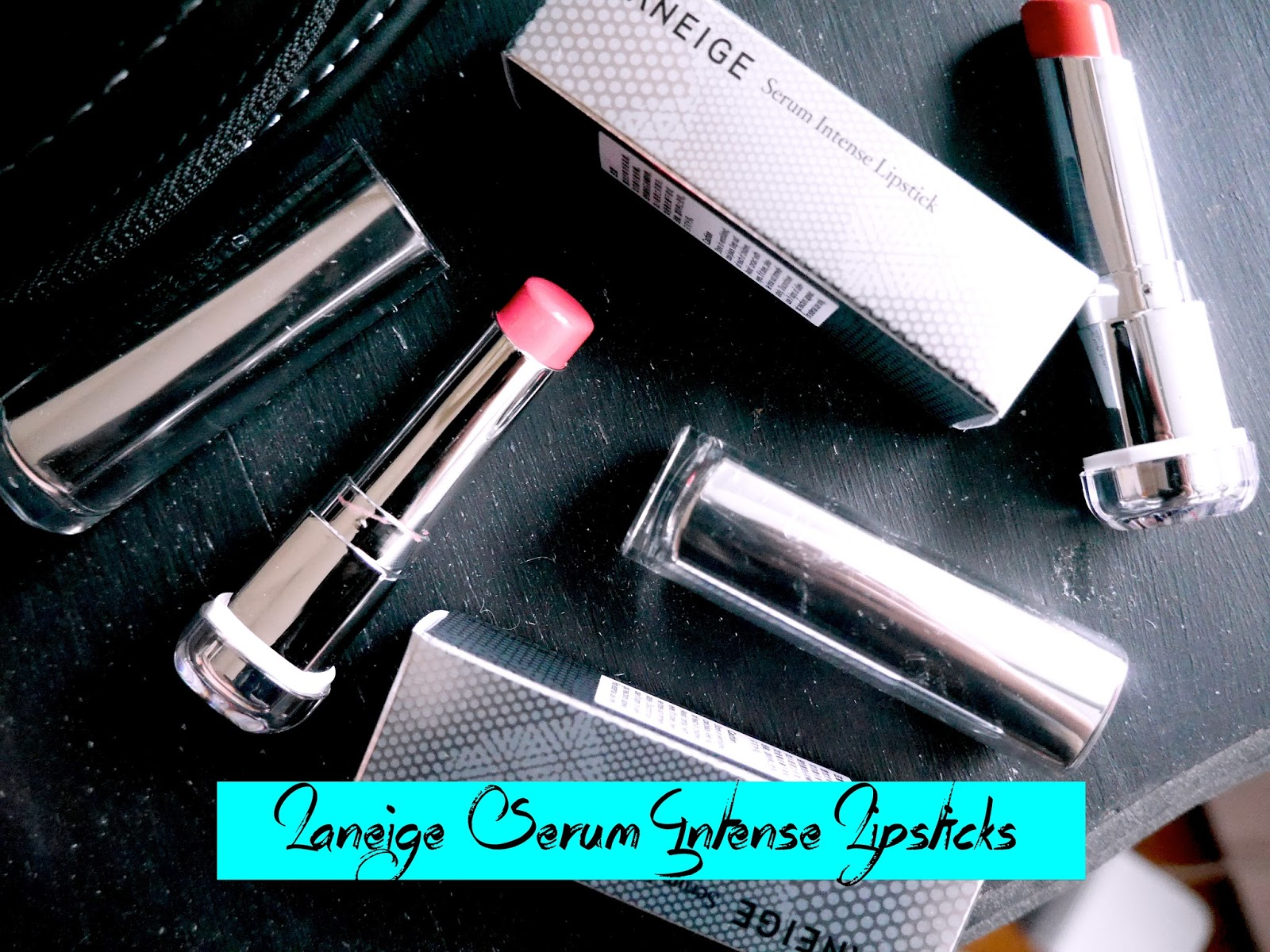 laneige serum intense lipstick twinkle coral flash pink swatch review