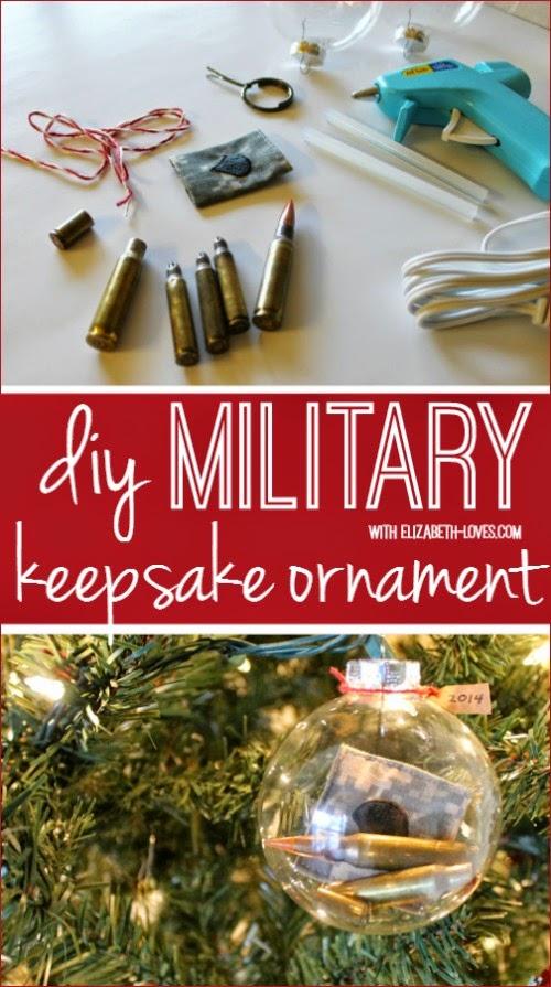 military keepsake ornament