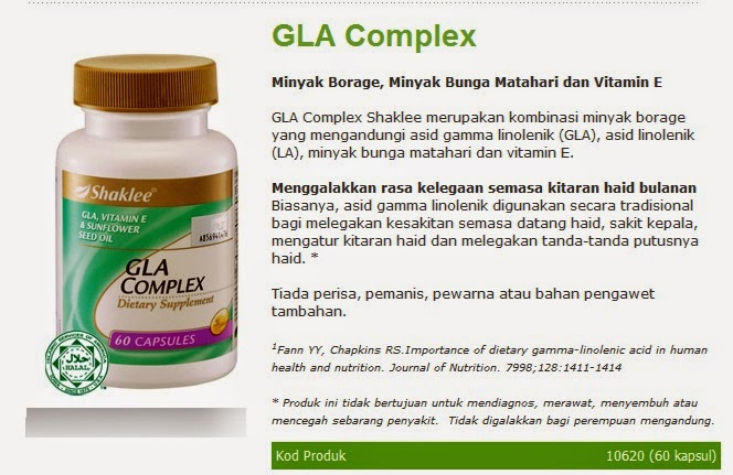 kebaikan gla shaklee untuk kulit dan atasi pms dengan berkesan