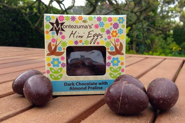 Montezuma's - Mini Eggs - Dairy-Free Dark Chocolate with Almond Praline