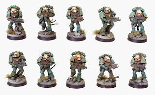 Pre Heresy Alpha Legion Tactical Marines in Mk. IV, V & VI Armor