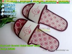 Souvenir Sandal Hotel Motif Batik
