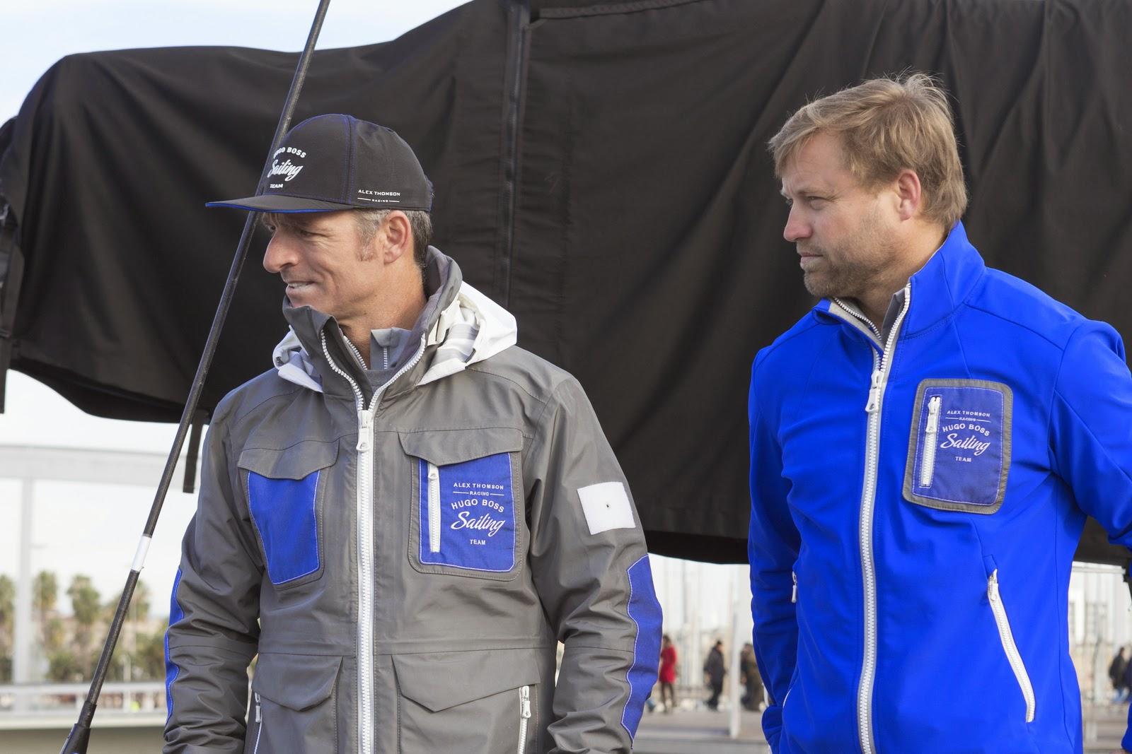 Alex Thomson et Pepe Ribes au départ de la Barcelona World Race.