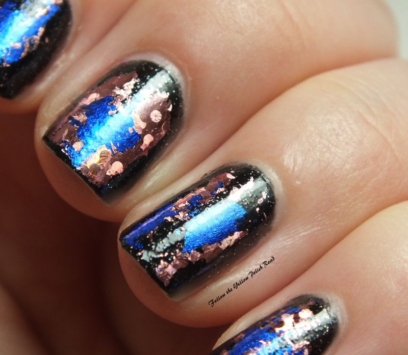Blue stiletto nails designs