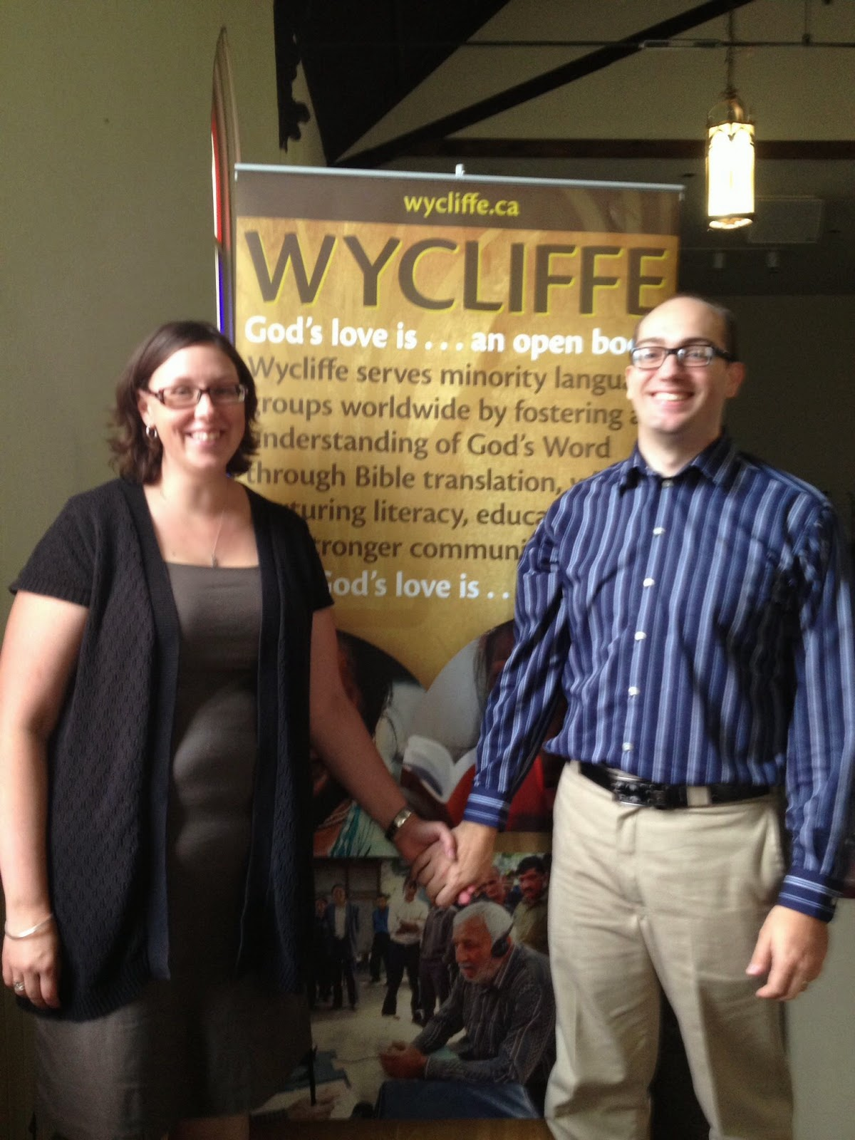Omemee Baptist Church Welcomed Wycliffe Translators Nate and Jess Weaver