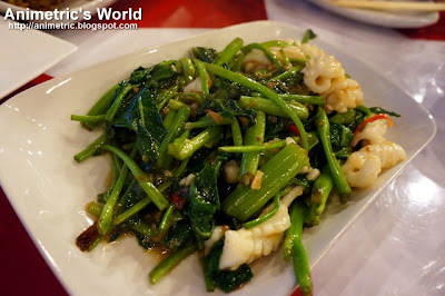 Sauteed Kangkong with Squid at Komrad