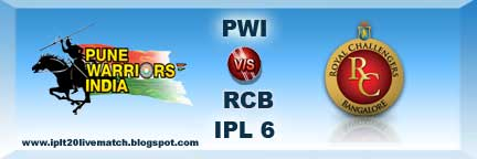 IPL 6 PWI vs RCB Highlight and PWI vs RCB Full Scorecards
