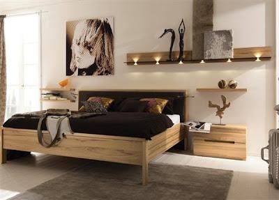 dormitorio madera moderno