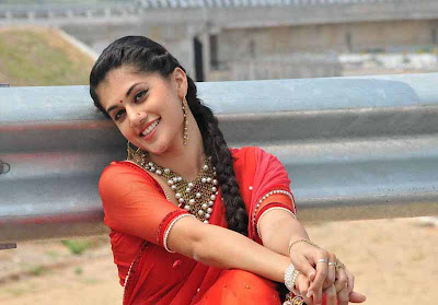 tapsee unseen in red sareepink dress photo gallery