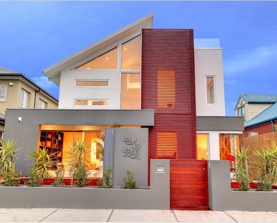 perpaduan warna cat rumah minimalis bagian eksterior